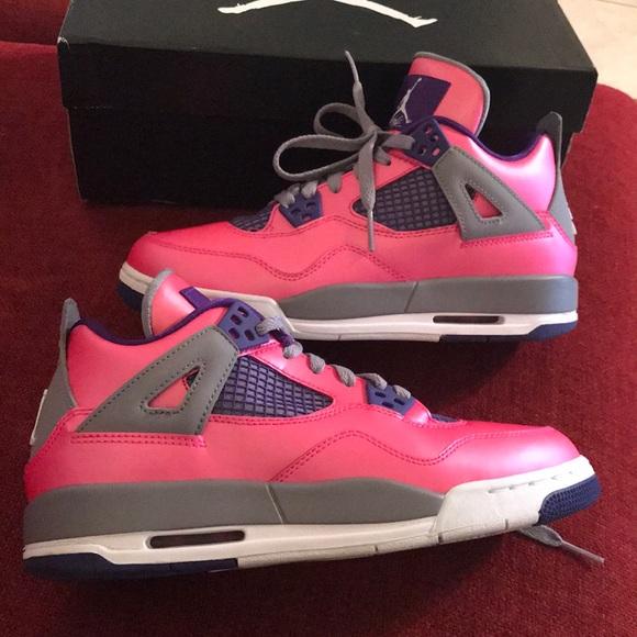 brand new 5daa1 e7338 Air Jordan Shoes - Air Jordan 4 Retro GS pink and purple 6y 7